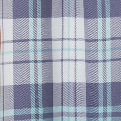 white, blue and purple plaid