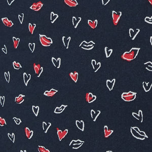 navy with lips-and-hearts print