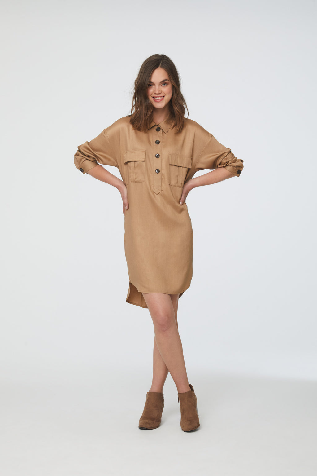 MAIA DRESS - KHAKI