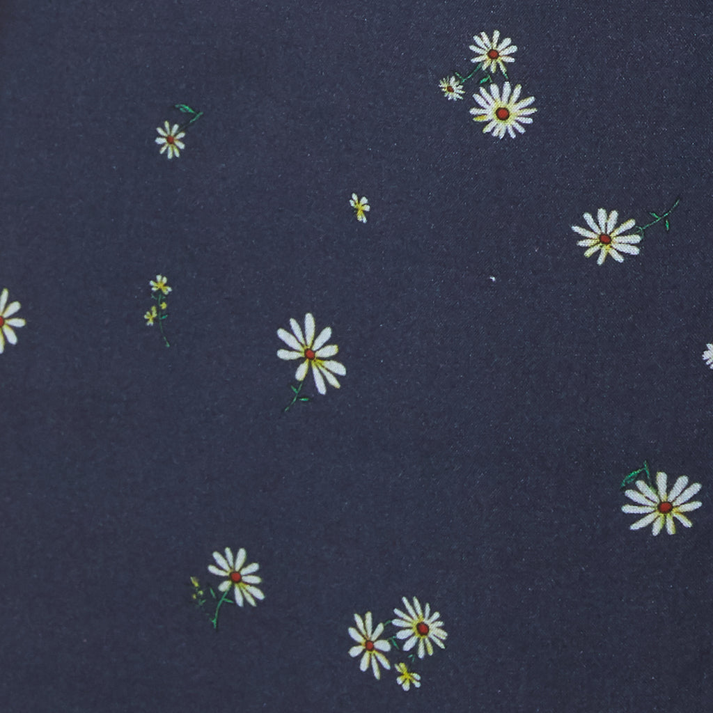 navy with daisy floral pattern