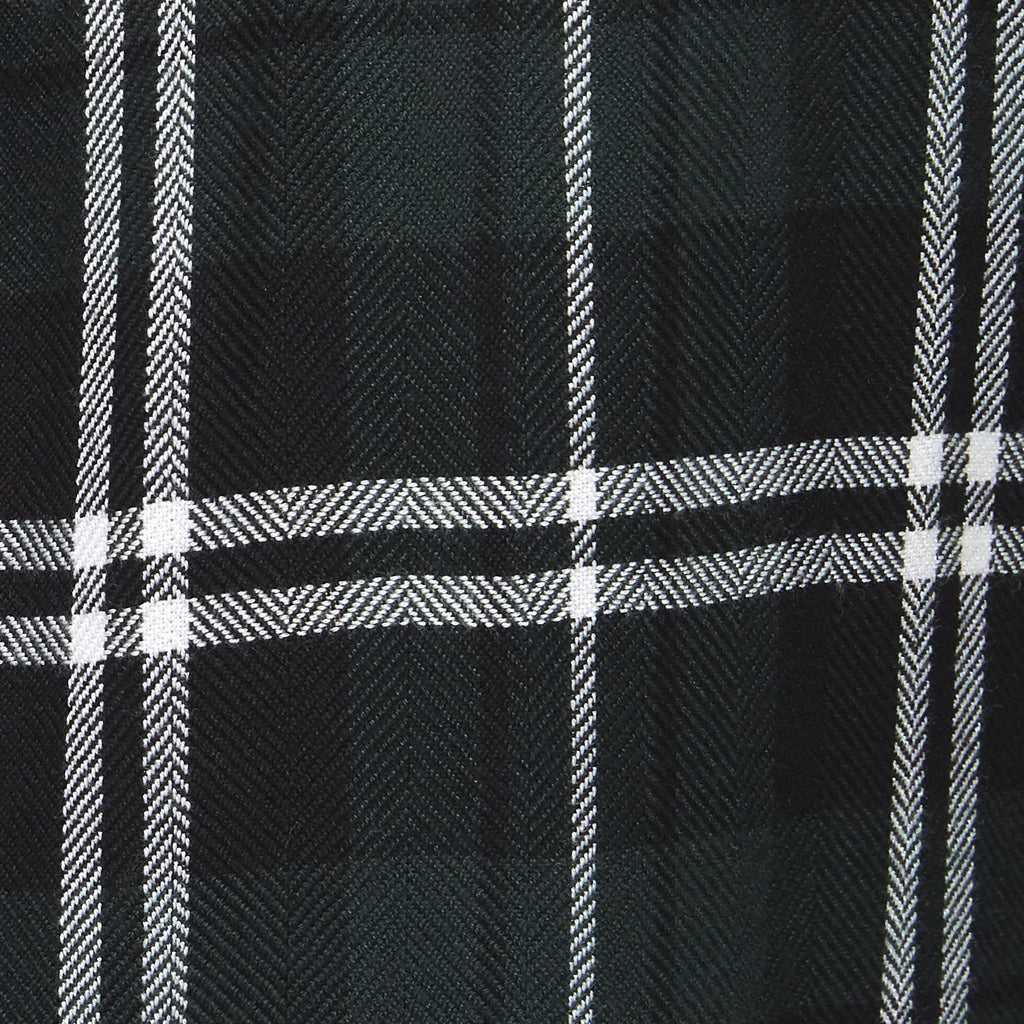 forest green plaid fabric