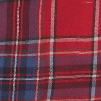 red white and blue plaid flannel fabric