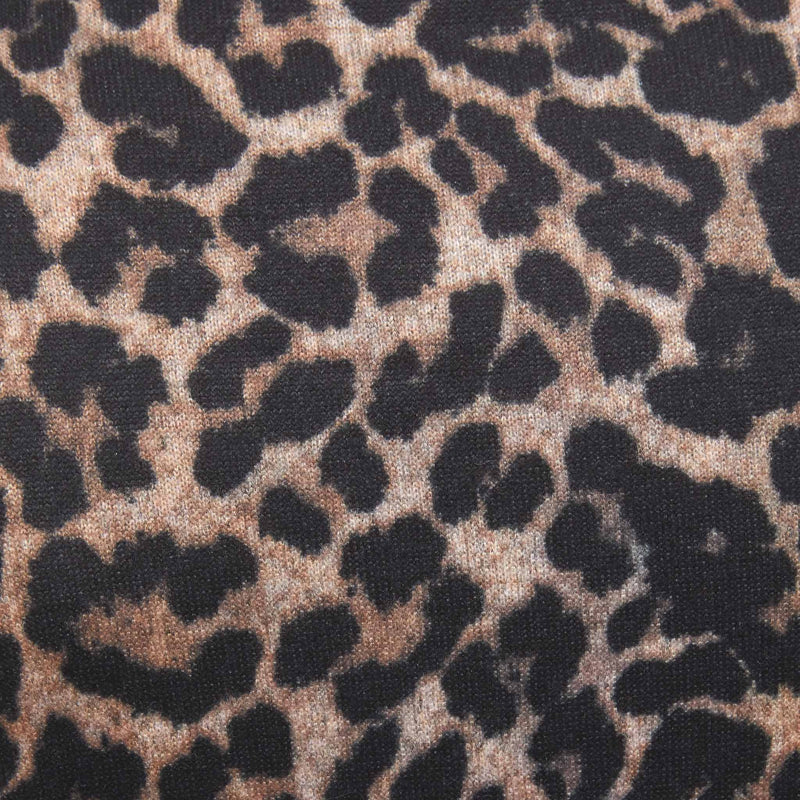 leopard print sweater fabric