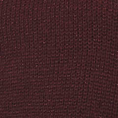long sleeve crew neck sweater in burgundy, red; swatch