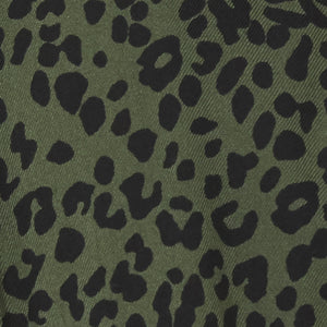 green and black leopard print fabric