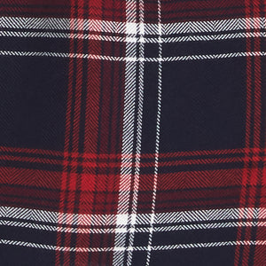 Red, white, and blue tri-color plaid fabric
