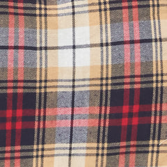 red, yellow and blue plaid