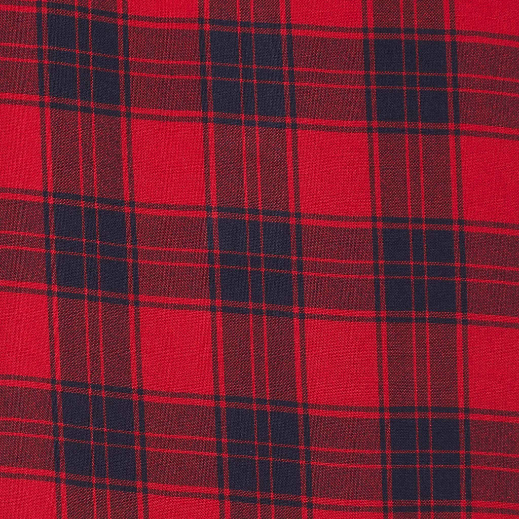 classic red and black plaid fabric