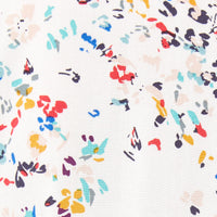 white with colorful confetti