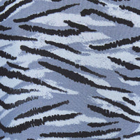 modern zebra print on blue background