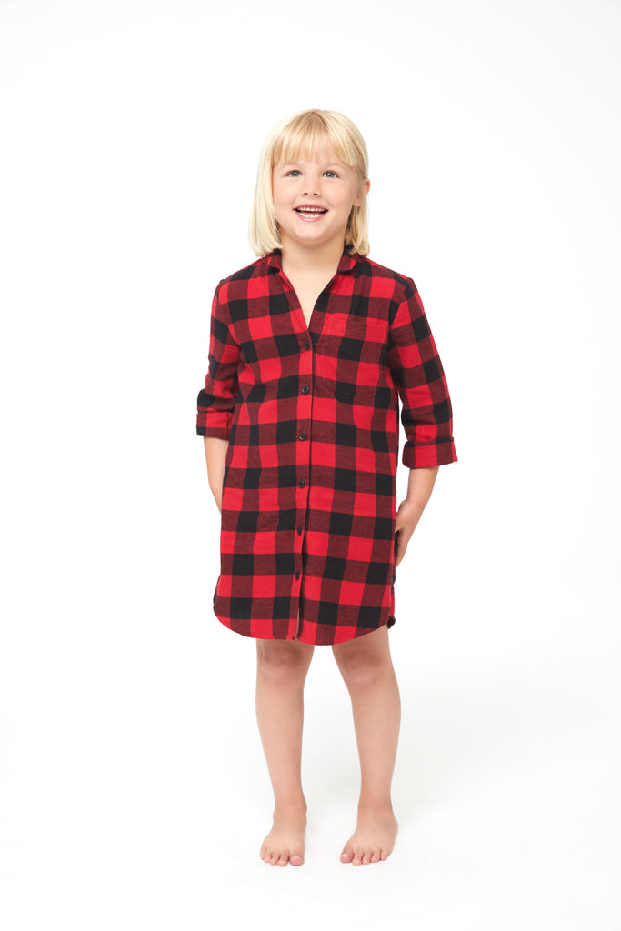 EVA GIRLS OVERSIZED SHIRT - HOLLY