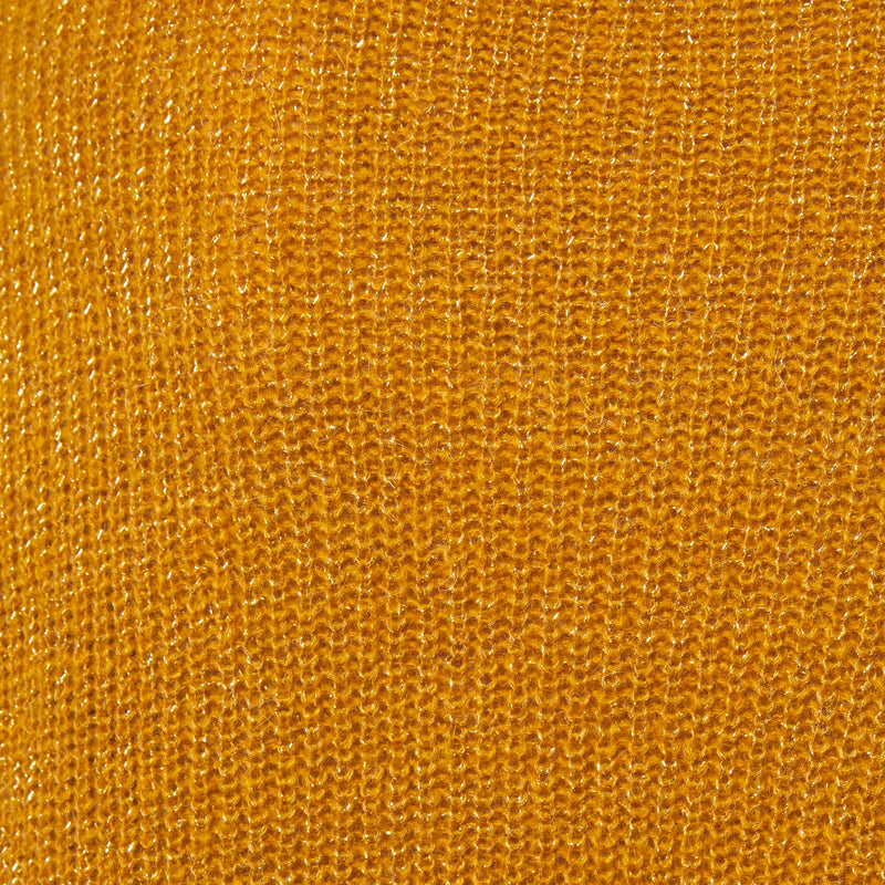 Yellow mustard color crew neck sweater swatch