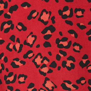 Red and black leopard print