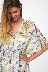 PALOMA COVER-UP - CHARTRUESE TIE DYE
