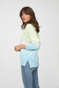 PAULINE SWEATER - BLUE GREEN