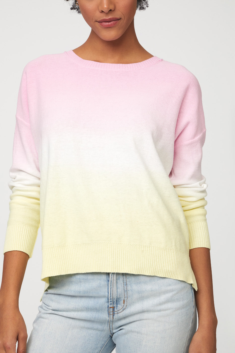 PAULINE SWEATER - YELLOW PINK