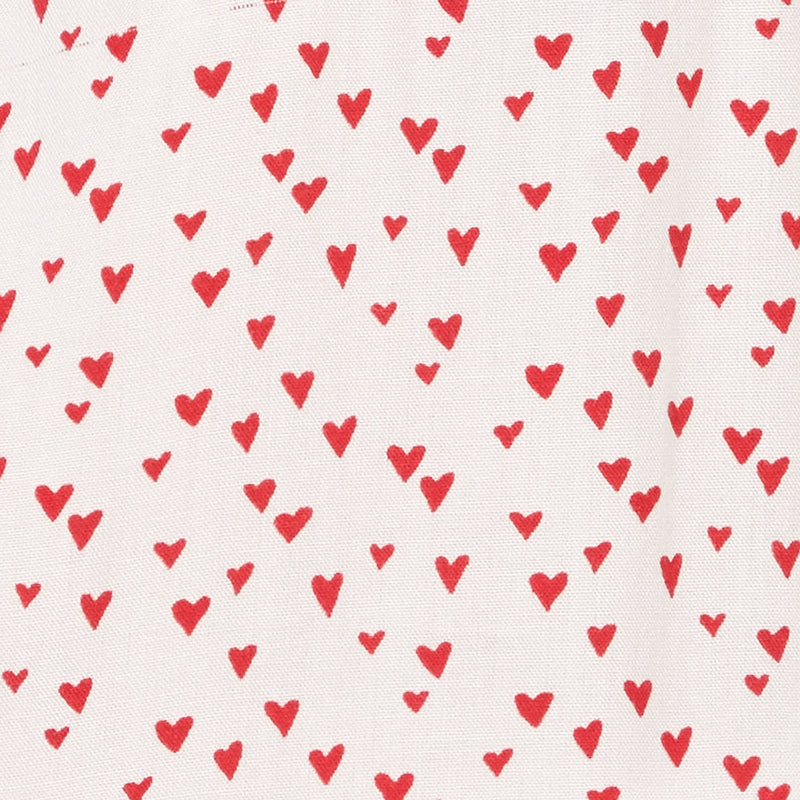 red heart print pattern