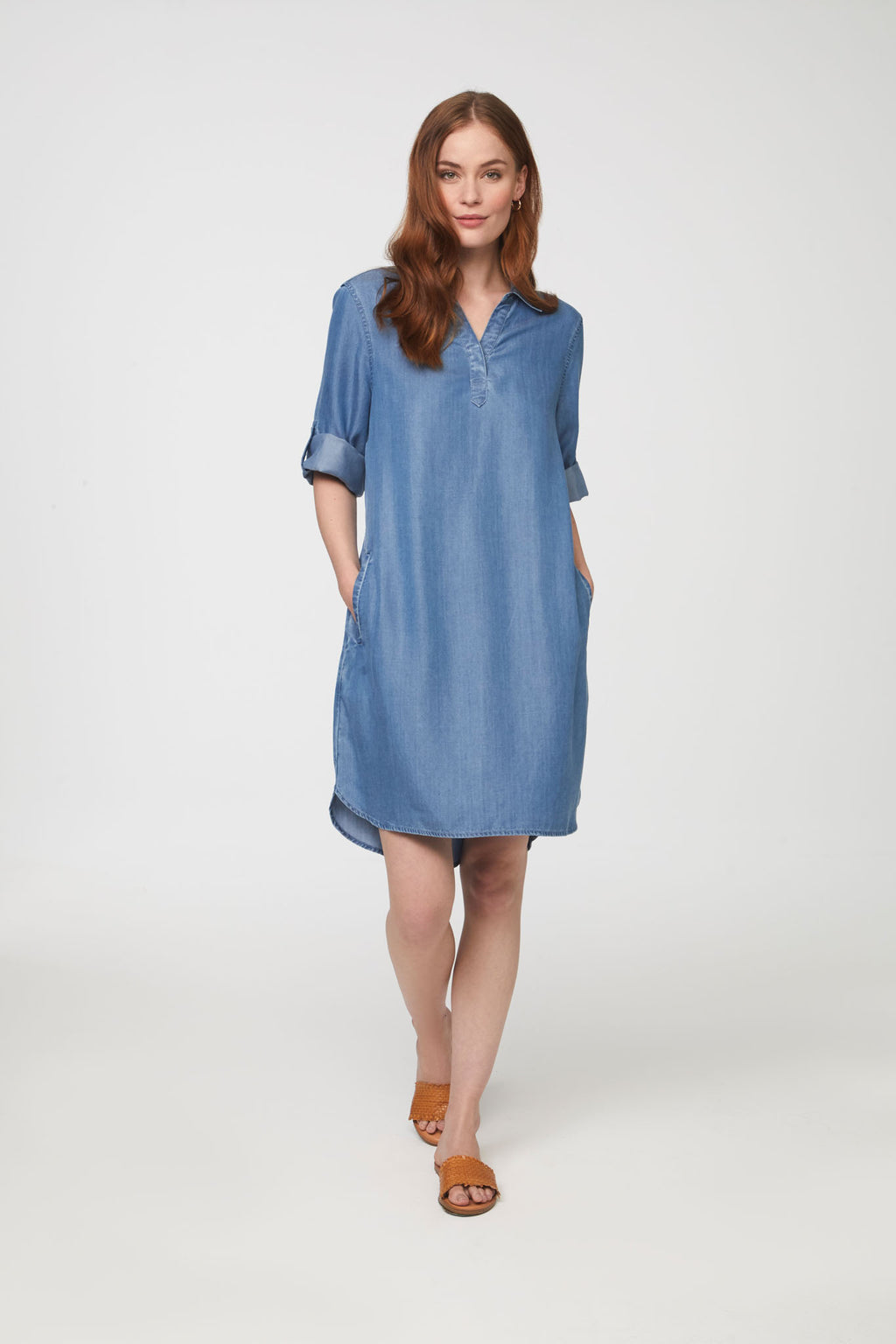 EMELIA DRESS - MEDIUM BLUE
