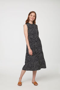 SAISON DRESS - BLACK ABSTRACT