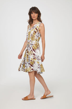 LOU LOU DRESS - CHARTREUSE TIE DYE