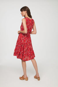 LOU LOU DRESS - AURORA RED