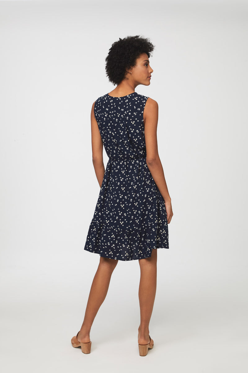 LOU LOU DRESS - NAVY DAISIES