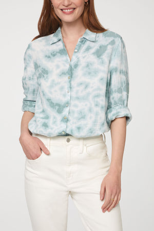 JAMES SHIRT - AQUA TIE DYE