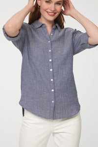 JAMES SHIRT - INDIGO CHAMBRAY