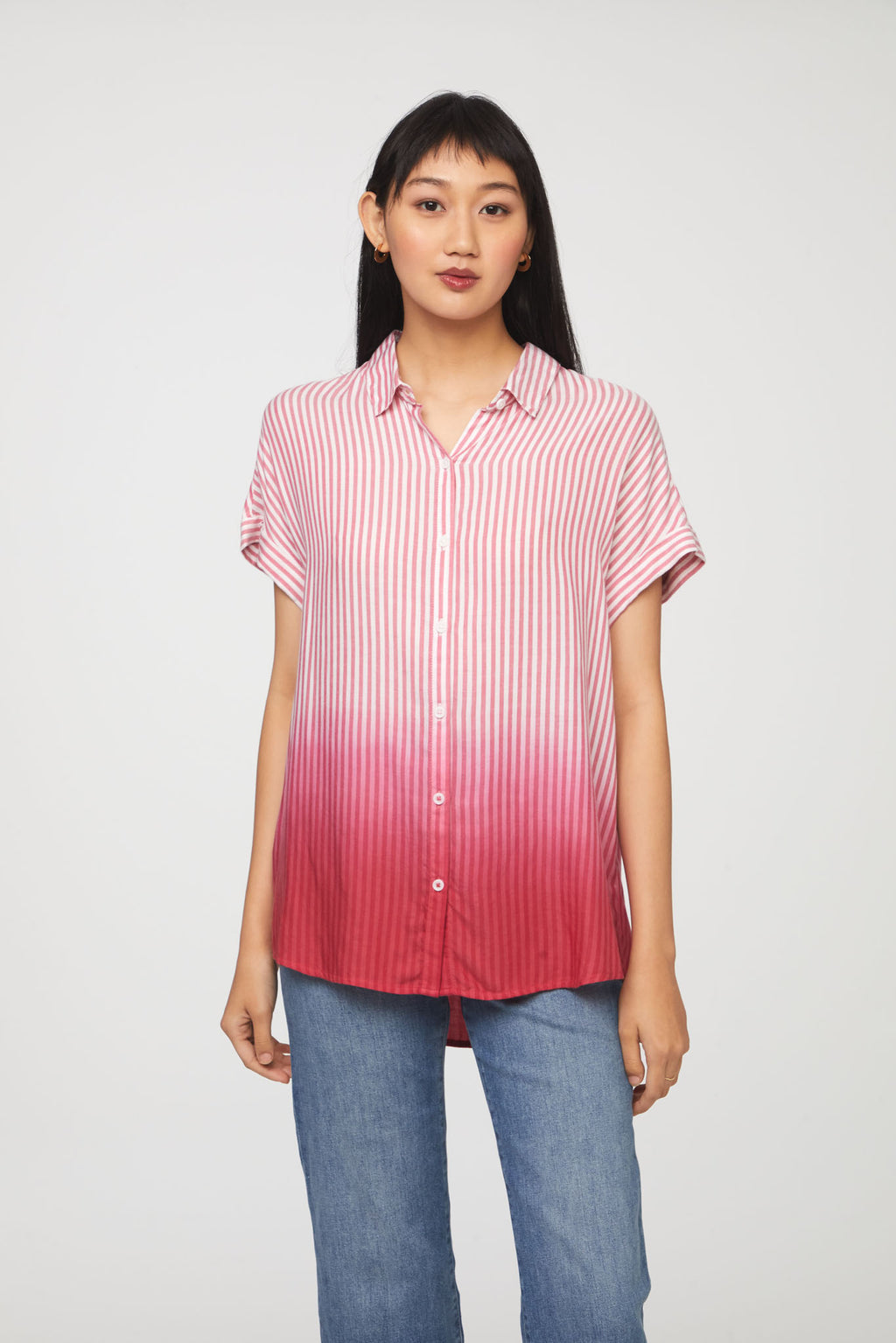 SPENCER SHIRT - CAMILLIA DIP DYE