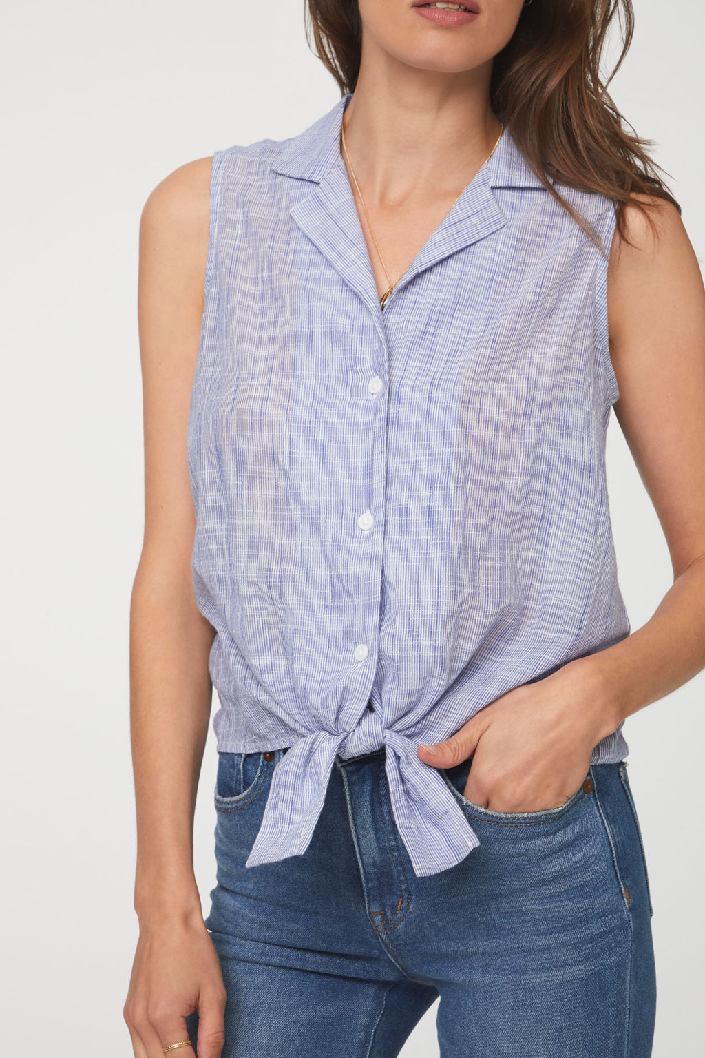 POPPY SHIRT - BLUE QUILT