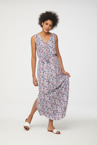 best sleeveless floral maxi dress by beachlunchlounge
