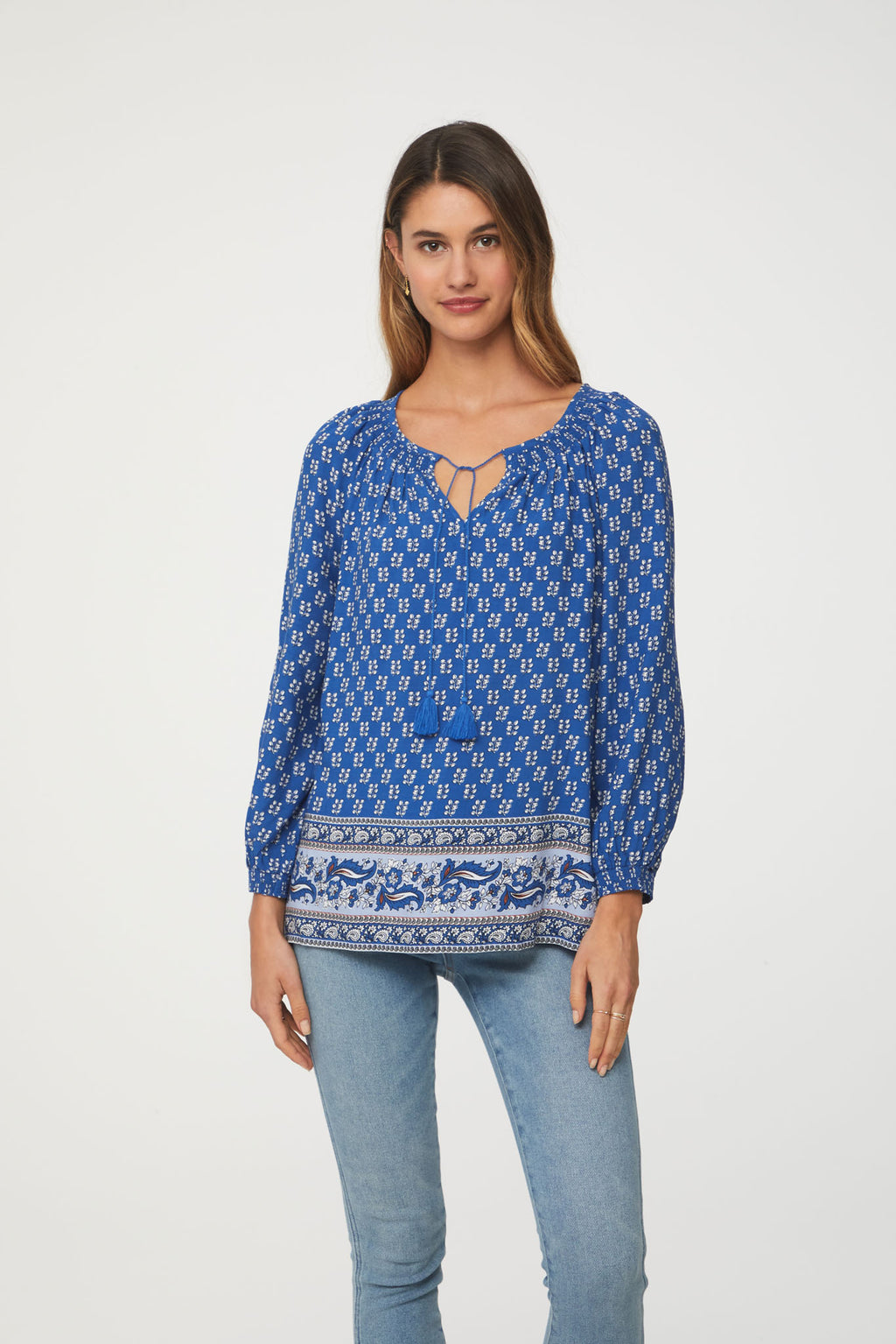LOUISA TOP - ATHENS BLUE