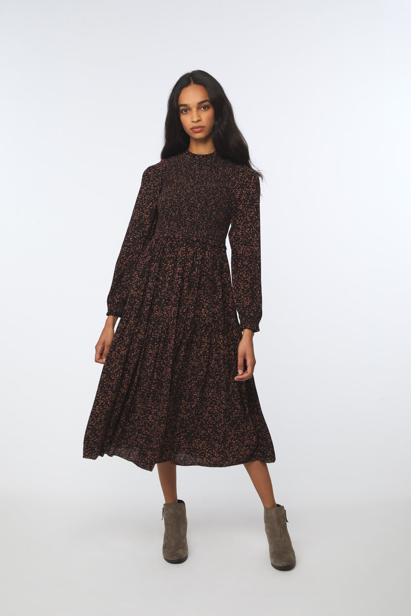 AYLIAH DRESS - ESPRESSO GARDEN