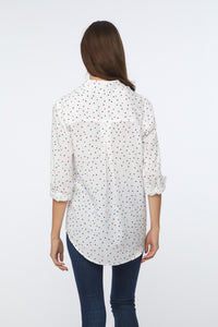 ALANNA SHIRT - RED, WHITE AND STAR