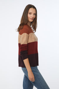PAULETTE SWEATER - RUSSET COMBO