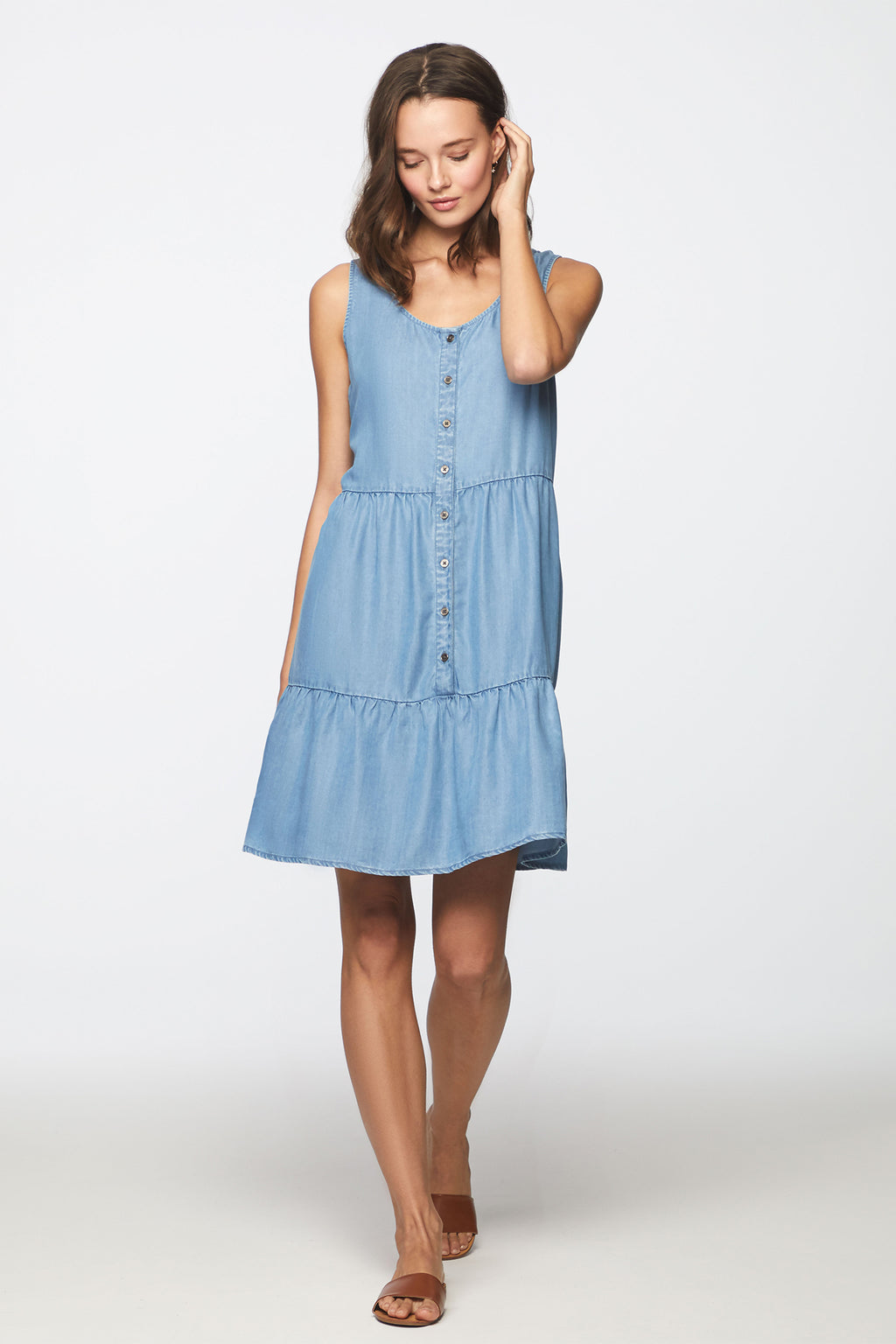 KIRA DRESS – MEDIUM WASH