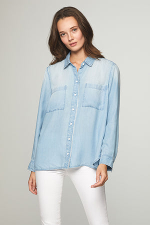 HARLOW SHIRT - MEDIUM WASH