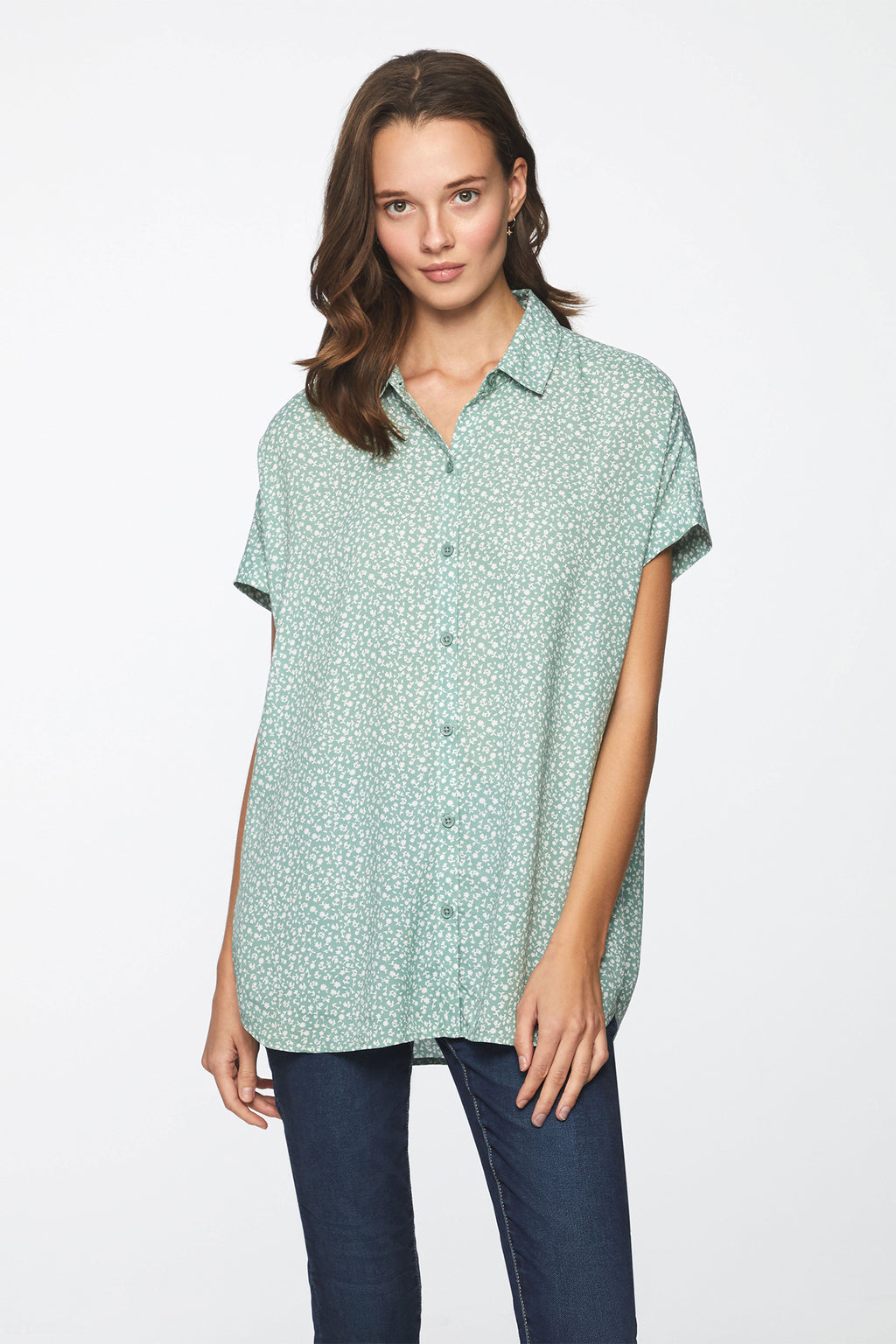 SPENCER SHIRT - MINT DAHLIA