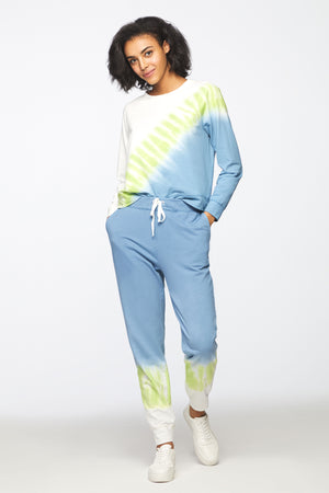 TERIE PANT - LIGHT INDIGO LIME