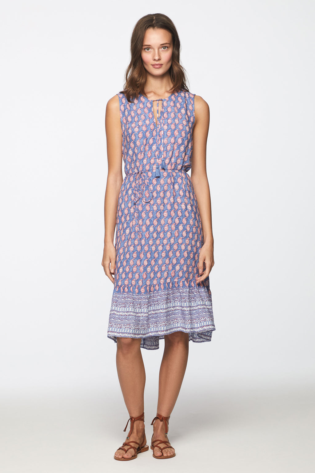 LOU LOU DRESS - BLUE PAISLEY