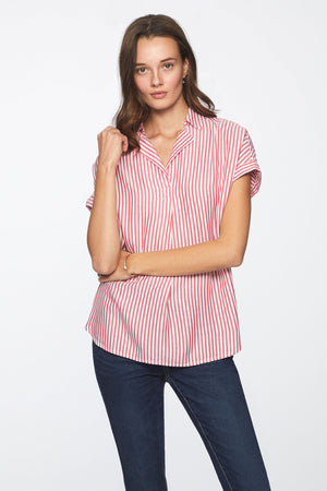 DESSIE TOP - RUBBER BAND PINK