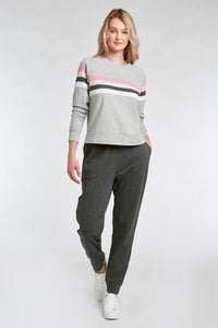 TRUDE JOGGER - GREY HEATHER