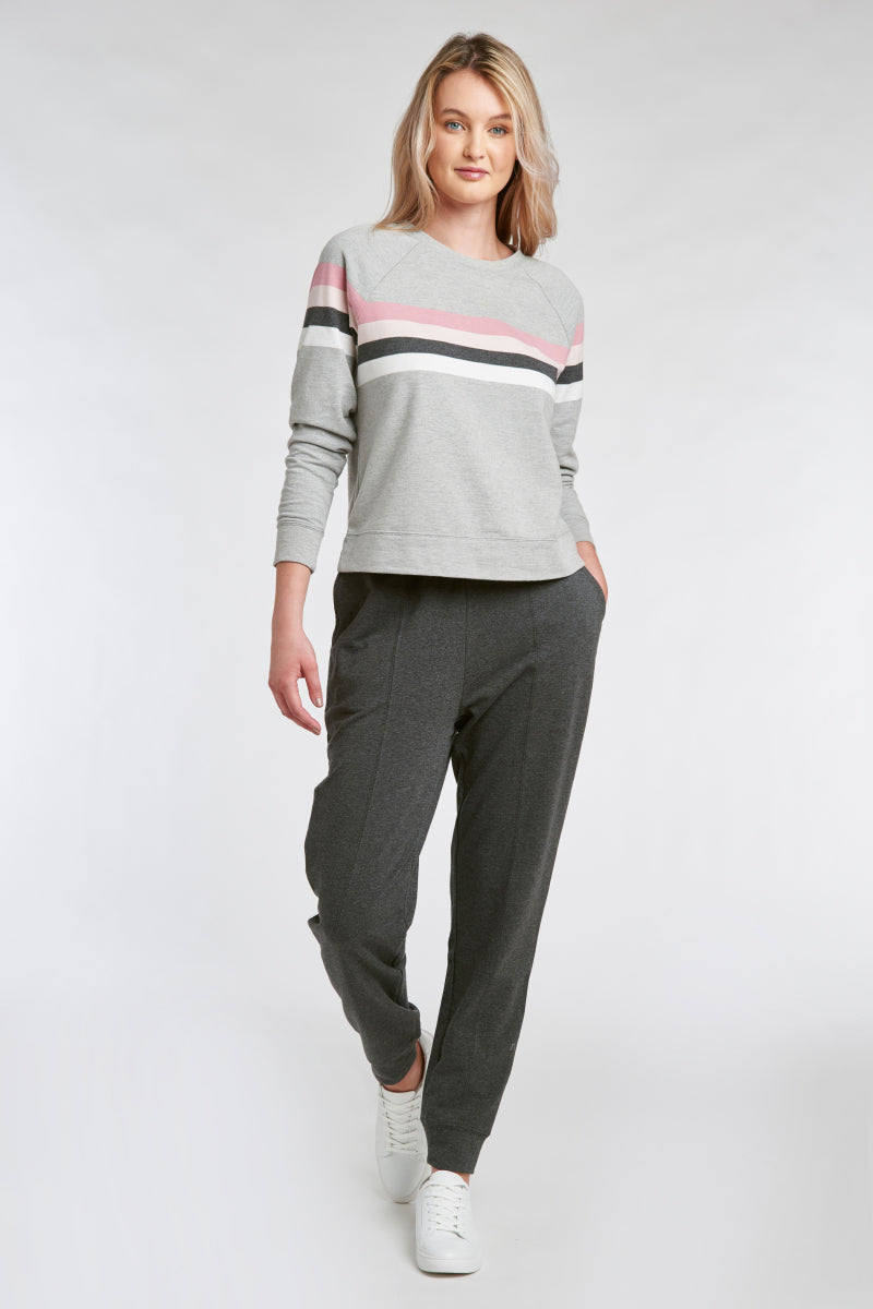 TRUDE TOP – GREY HEATHER