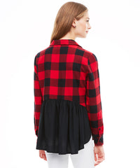 Tami Red Black Top