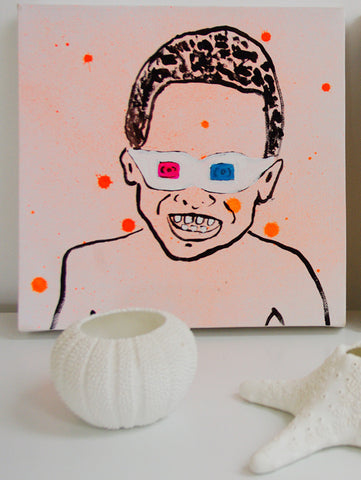 3D Kid ( fluro orange ) painting