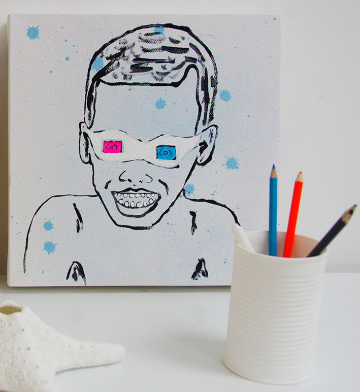 3D kid (blue) painting