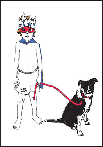 'Ace & Jack The Dog' set of 5 greetings cards