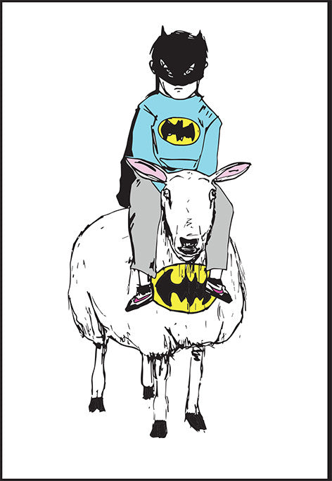 'Batman and the Woolly Wonder' set of 5 greetings cards