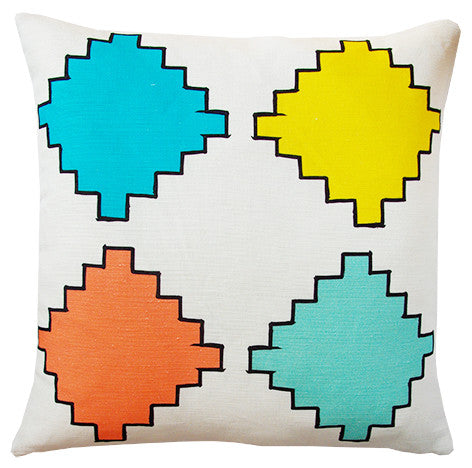 Aztec Diamonds cushion cover multi coloured