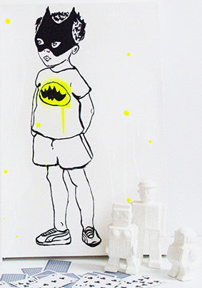 Batman Boy Painting